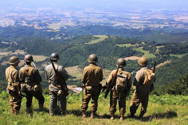 Da Monte Altuzzo guardando verso Sud: la parte libera dell'Italia a Settembre 1944