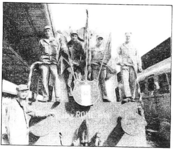 Photo Caption: Crew of the first train into Rome, July 4, 1944.